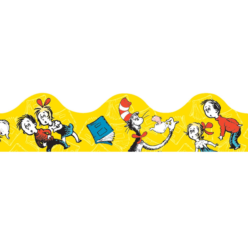 Eureka Cat in the Hat™ Yellow Bulletin Board Border, Scalloped
