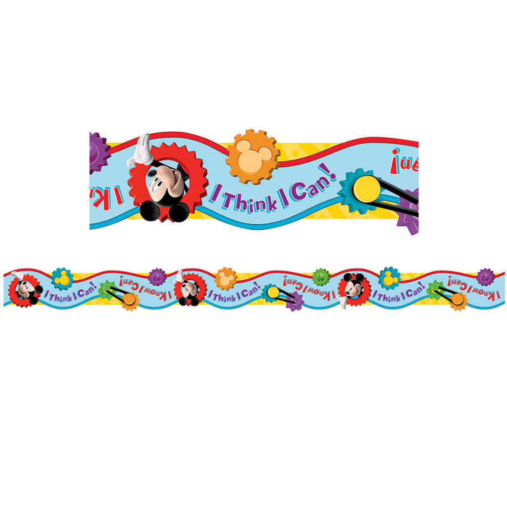 Eureka Mickey Mouse Clubhouse® I Think I Can Extra Wide DieCut Deco Bulletin Board Border