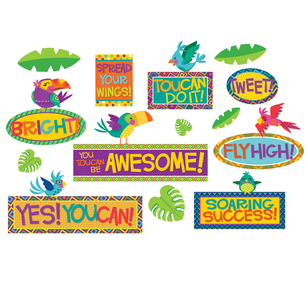 Eureka You Can Toucan Motivational Mini Bulletin Board Set