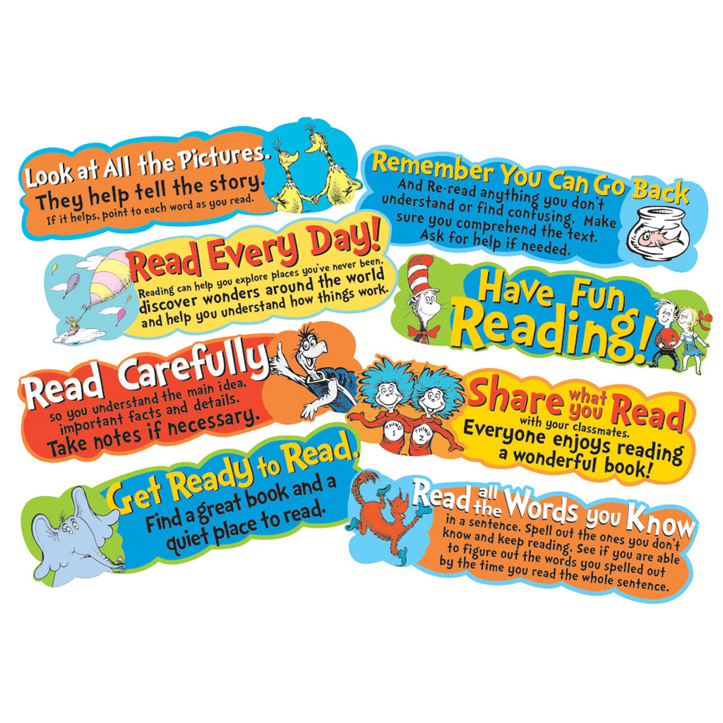 Eureka Dr. Seuss™ Reading Tips Mini Bulletin Board Set