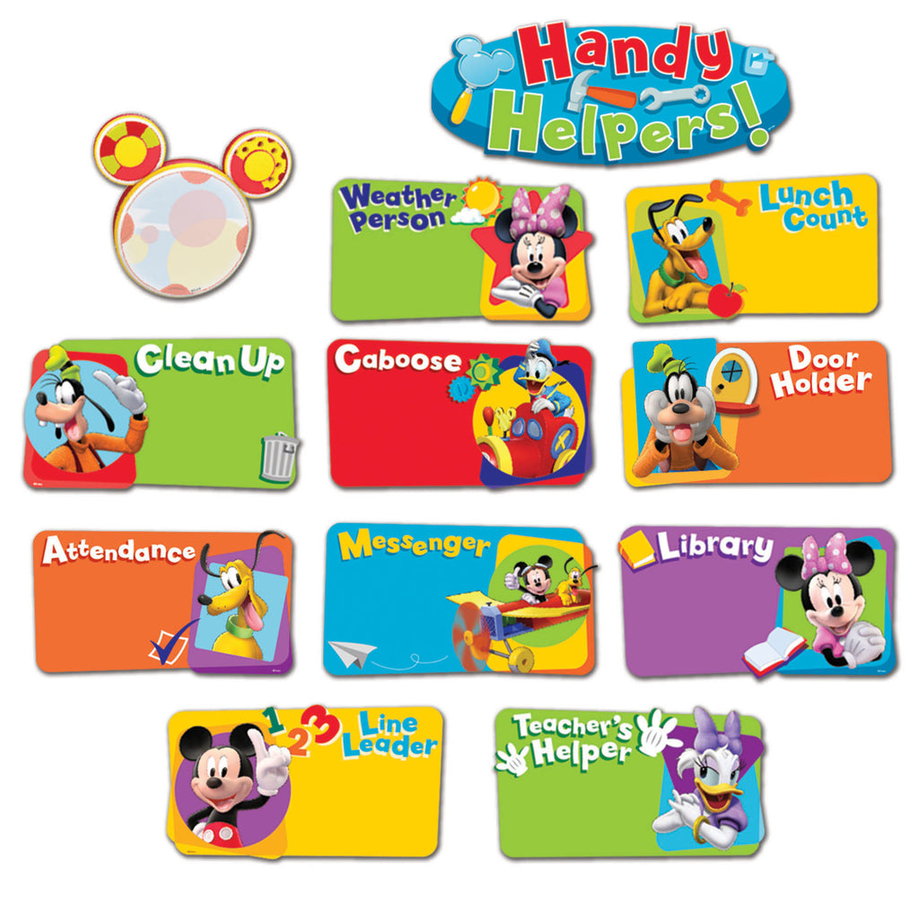 Eureka Mickey Mouse Clubhouse® Handy Helpers Job Chart Mini Bulletin Board Set