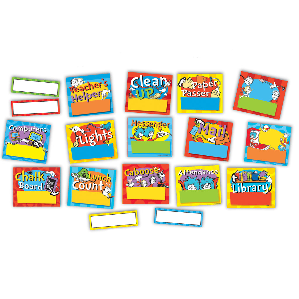 Eureka Dr. Seuss™ Standard Job Chart Mini Bulletin Board Set