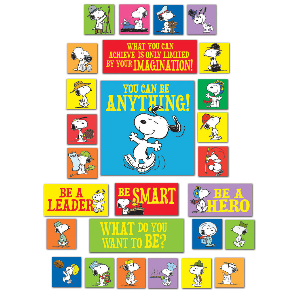 Eureka Peanuts® You Can Be Anything Bulletin Board Set