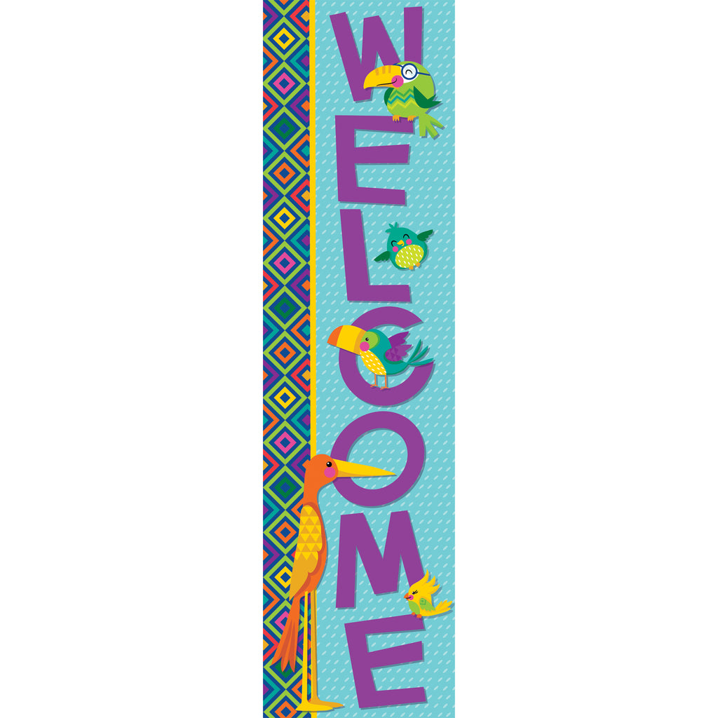 Eureka You Can Toucan Vertical Welcome Banner