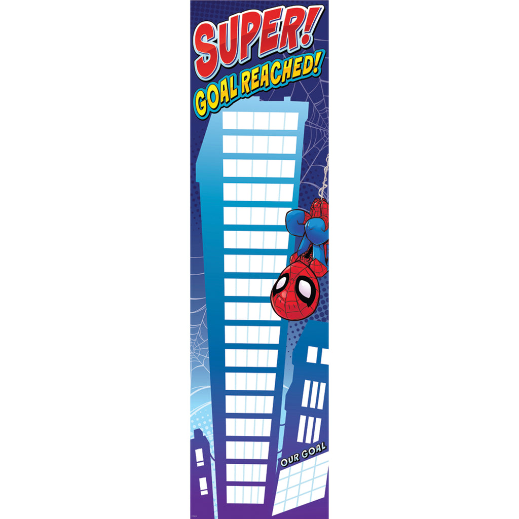 Eureka Marvel™ Super Hero Adventure Vertical Goal Chart Banner