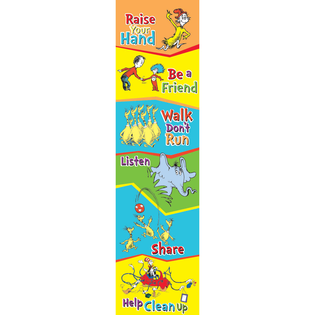 Eureka Dr. Seuss™ Cat in the Hat™ Class Rules Banner Vertical