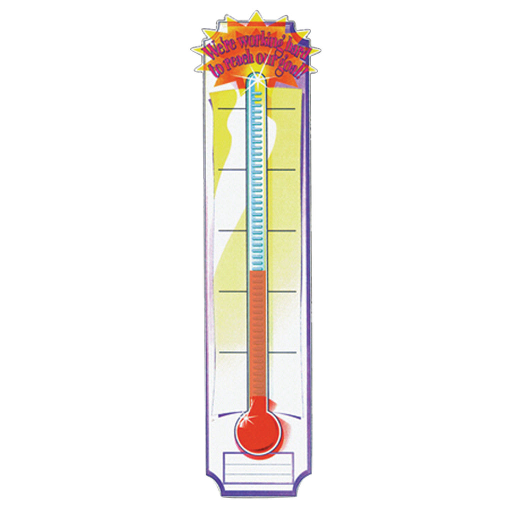 Eureka Banner Goal Setting Thermometer 45 x 12 Vertical