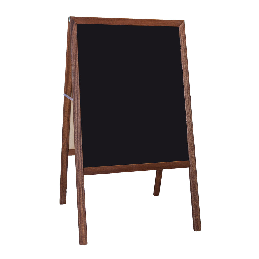 "Flipside Stained Black Chalkboard Marquee Easel, 42""H x 24""W"