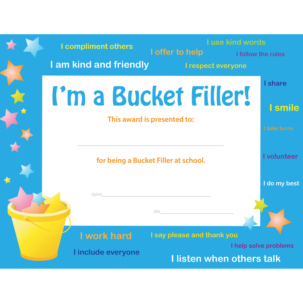 Flipside I'm a Bucket Filler! Award