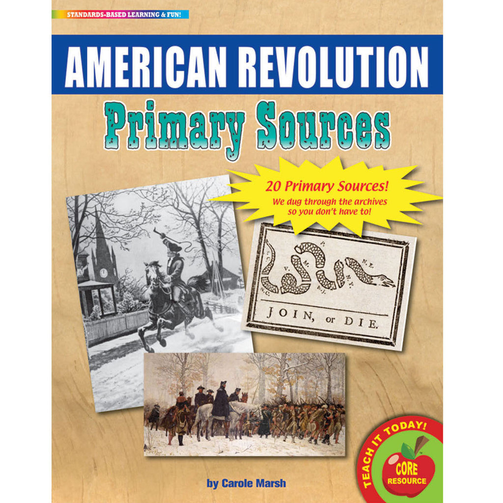 Gallopade The American Revolution Primary Sources Pack