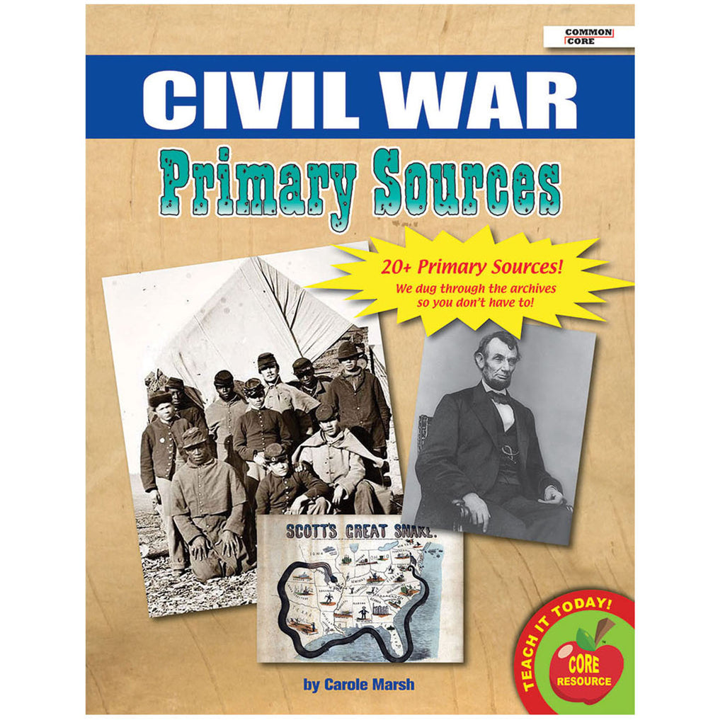 Gallopade Civil War Primary Sources Pack