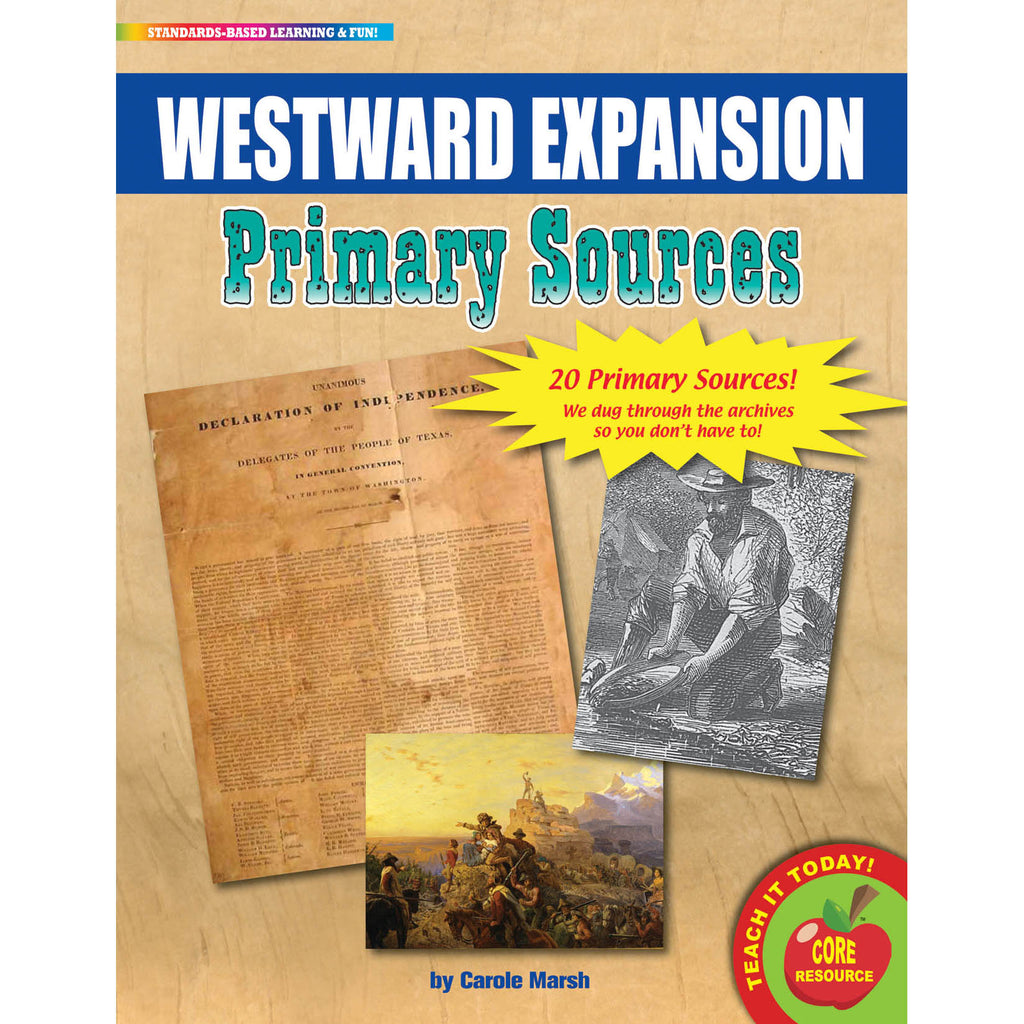 Gallopade Westward Expansion Primary Sources Pack