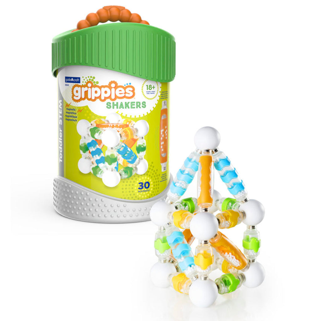 Guidecraft Grippies® Shakers – 30 Piece Set