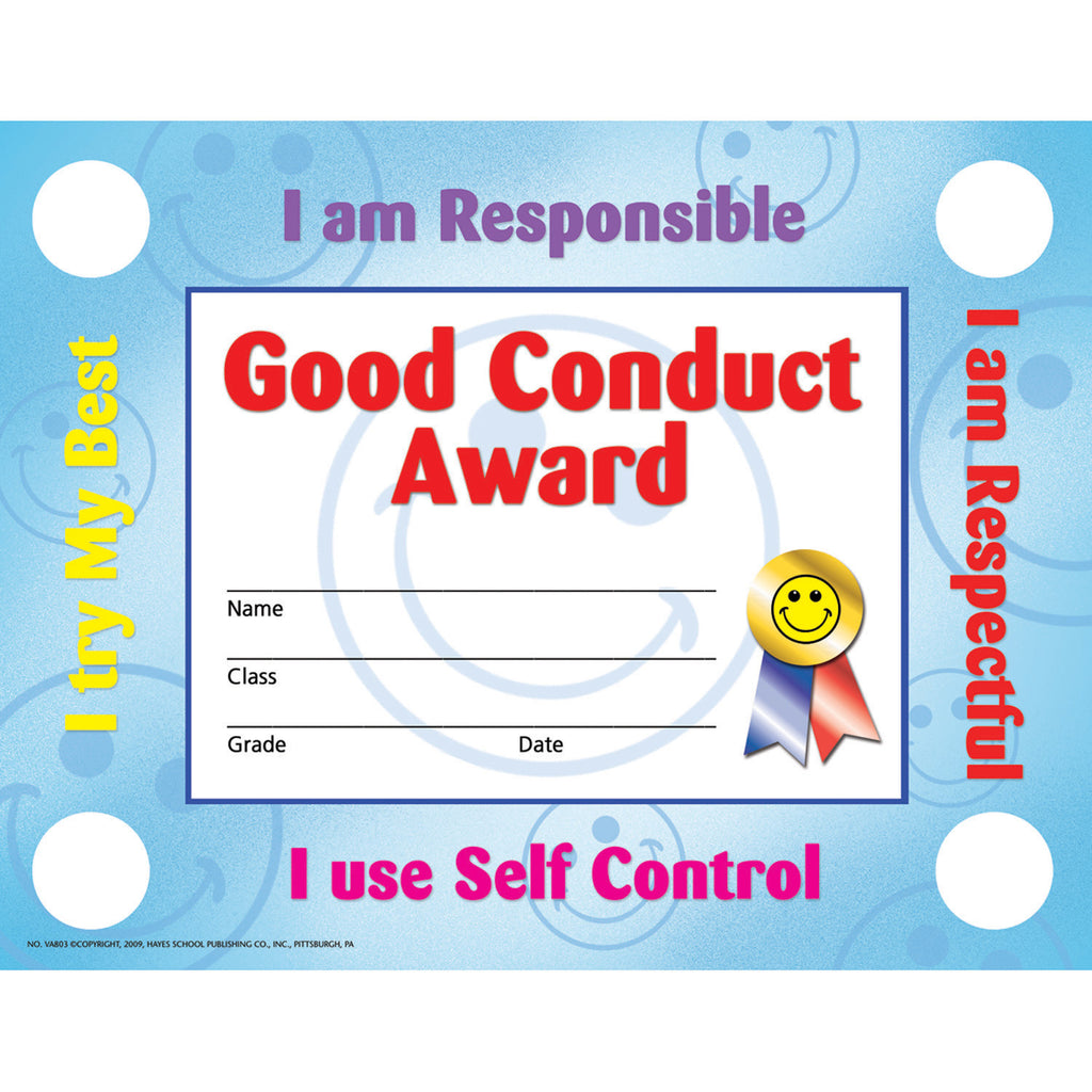 Hayes School Publishing Good Conduct 2