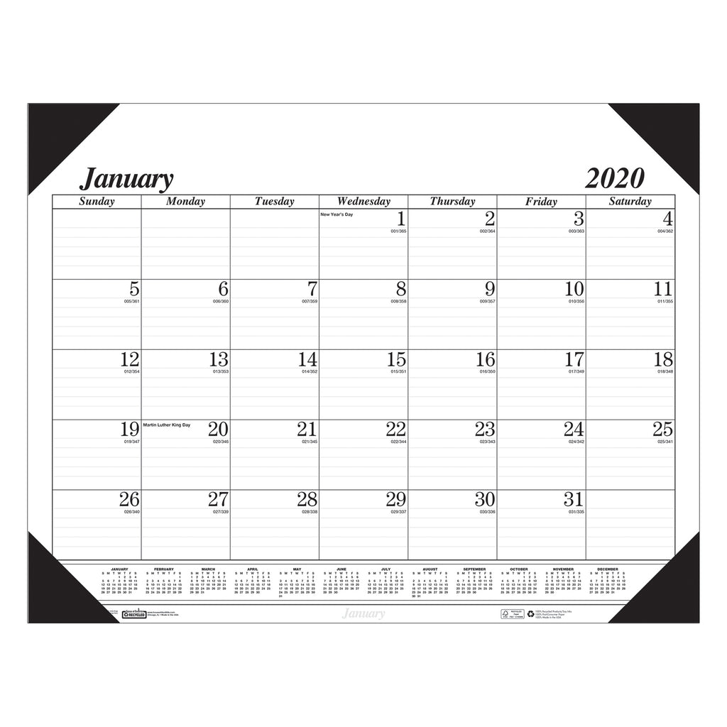 House Of Doolittle Economy Desk Pad 12 Months Jan - Dec