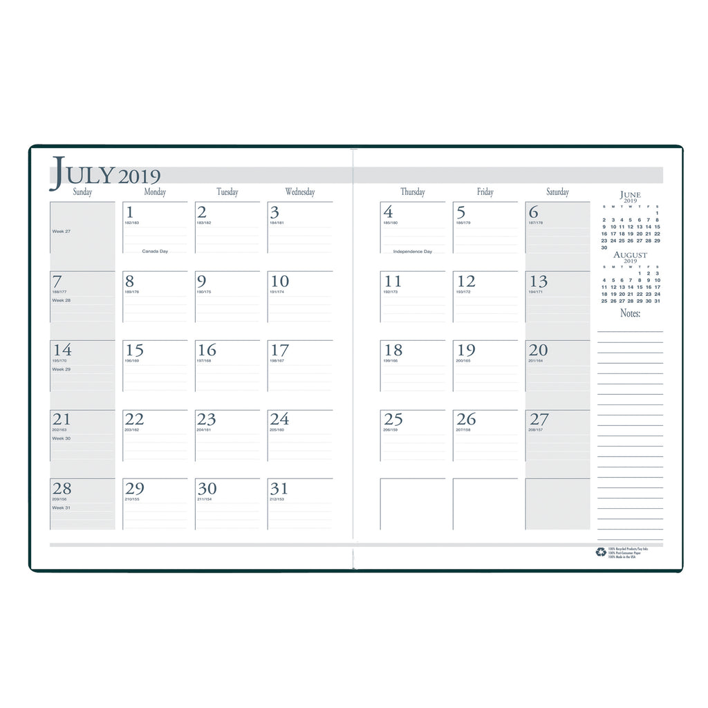 House Of Doolittle Academic Monthly Planner 14 Months July-August