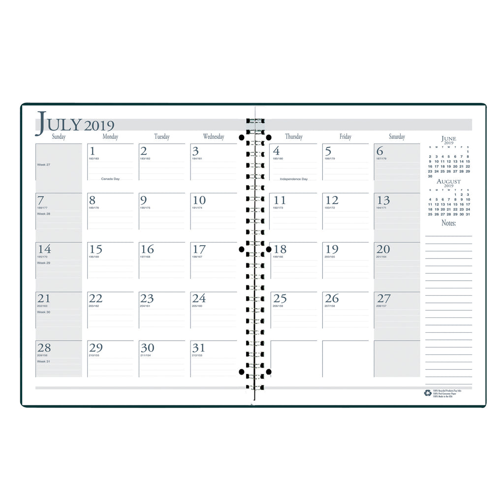 House Of Doolittle Academic Monthly Planner 8 1/2 x 11 Black Wirebound