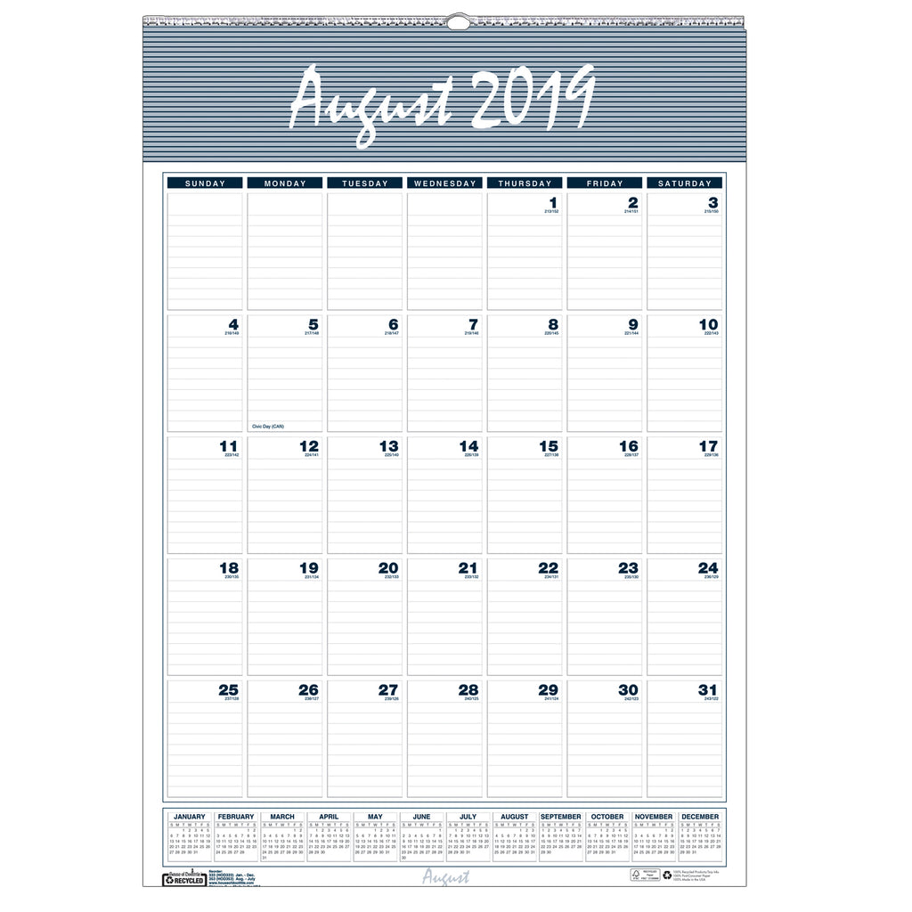House Of Doolittle Wall Calendar 12 Months Aug-Jul