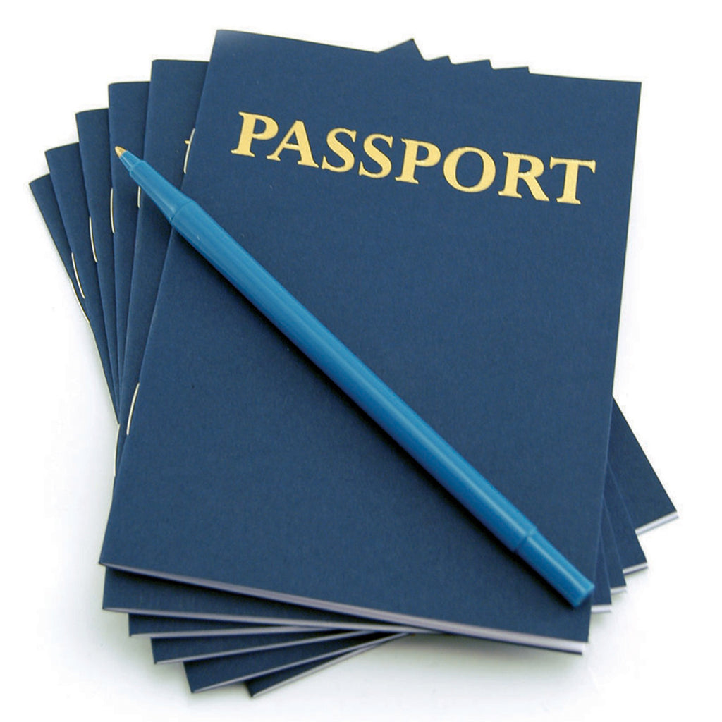 Hygloss Products Passport Books (Blank Pages) - 24 Books
