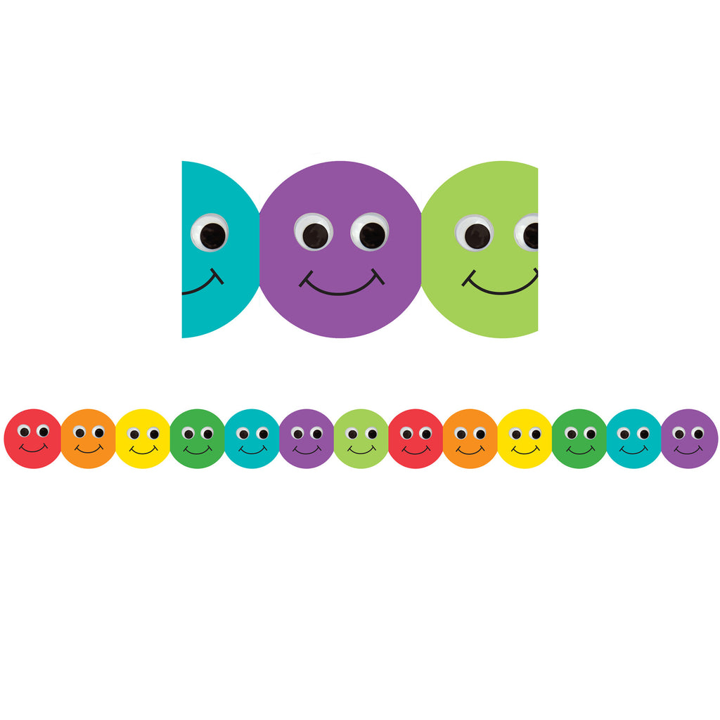 Hygloss Products Smiley Faces Bulletin Board Border