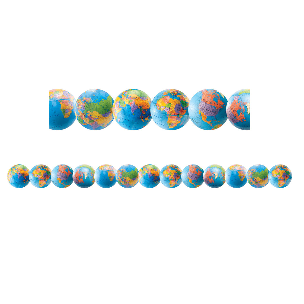 Hygloss Products Globes Bulletin Board Border