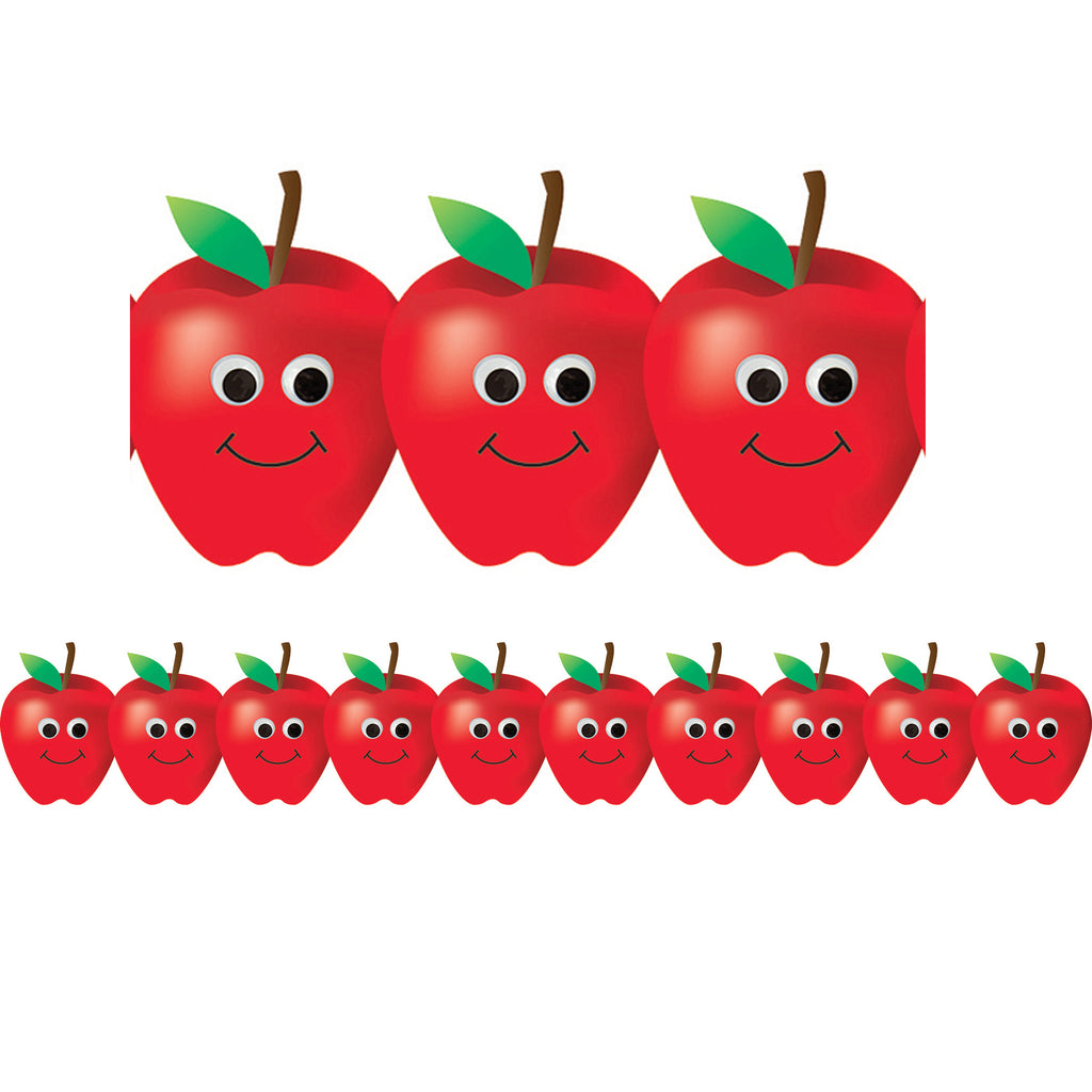Hygloss Products Happy Apples Die-Cut Bulletin Board Border