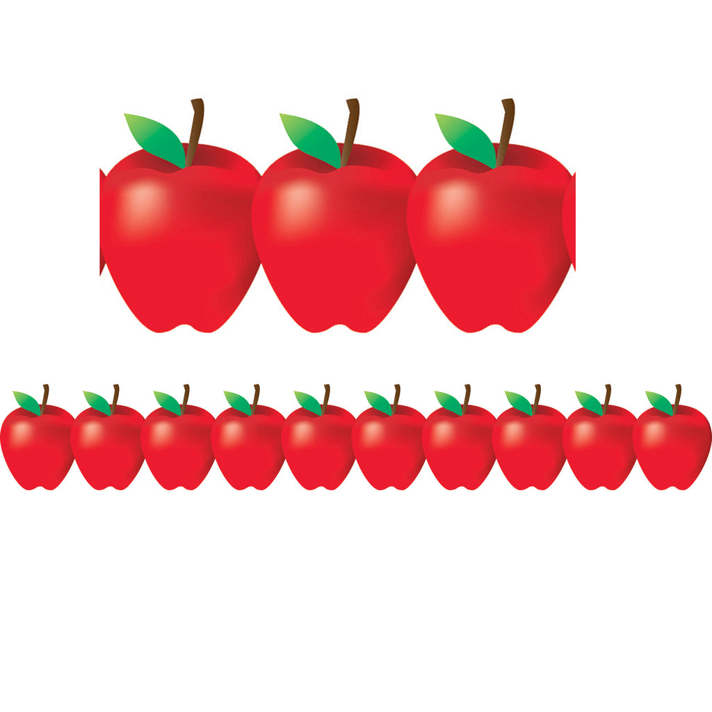 Hygloss Products Red Apples Bulletin Board Border