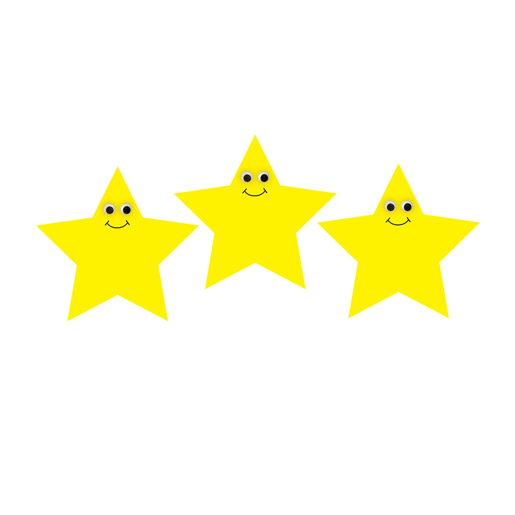 "Hygloss Products 7"" Happy Yellow Star Accents"