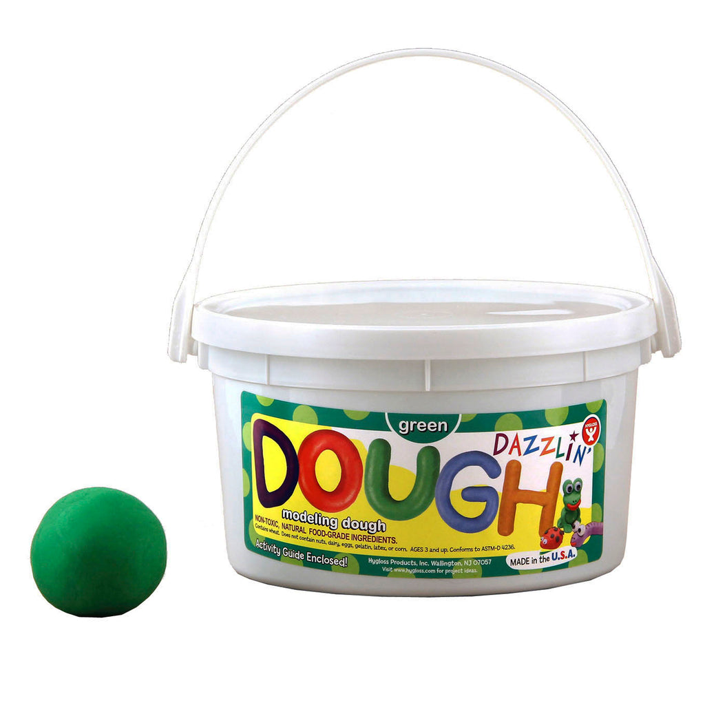 Hygloss Products Dazzlin' Dough - Green, 3 lbs.