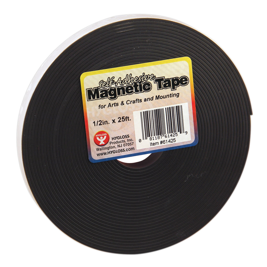 "Hygloss Products Magnetic Strips, .5"" x 25'"