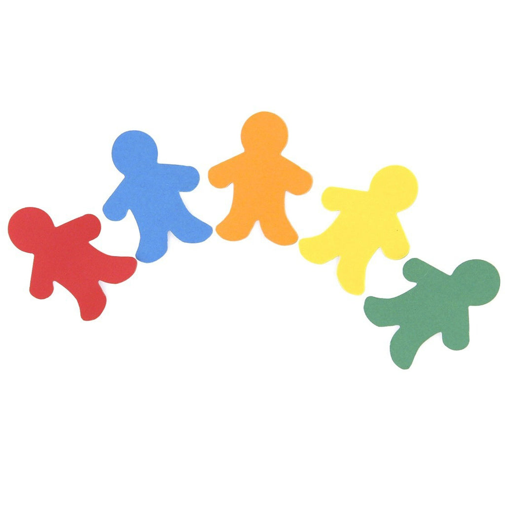 "Hygloss Products Pocket Shapes - 2"" People"