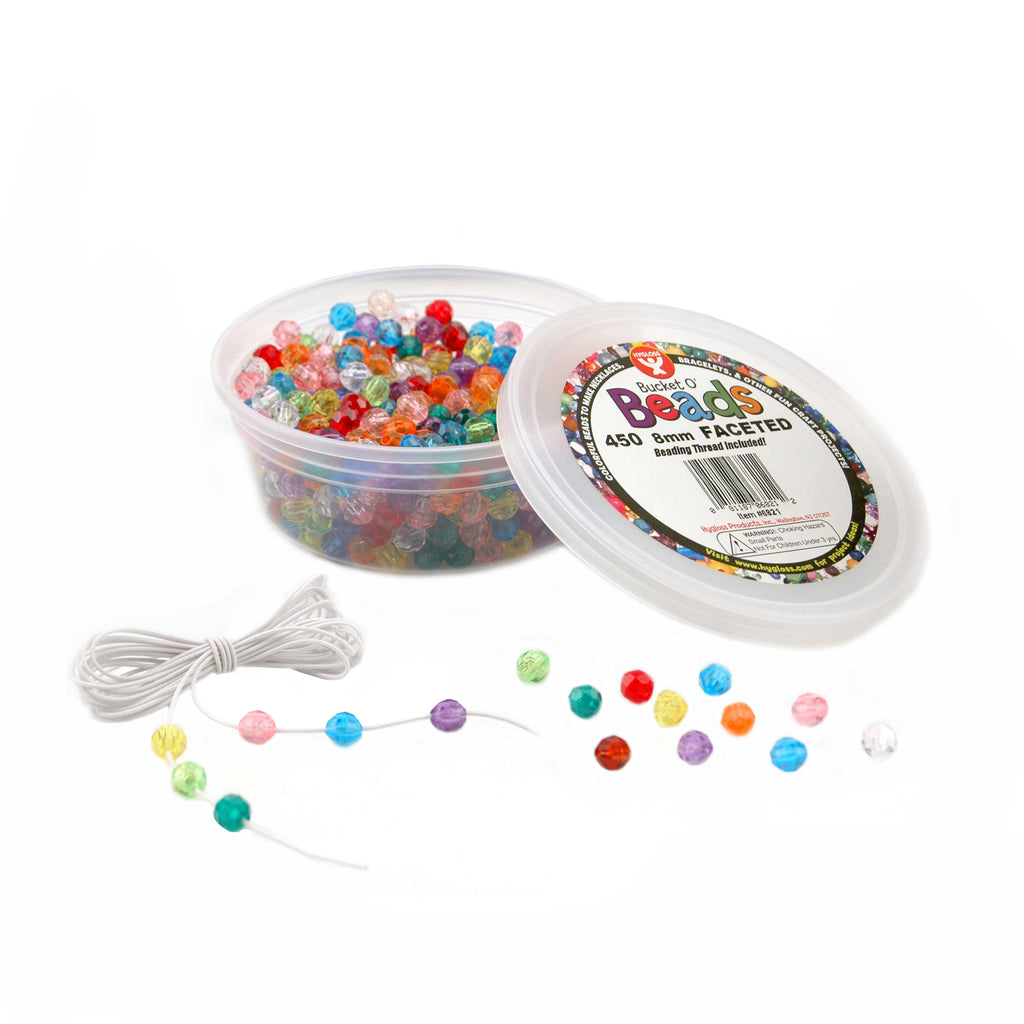 Hygloss Products Bucket O` Beads, 450 Faceted