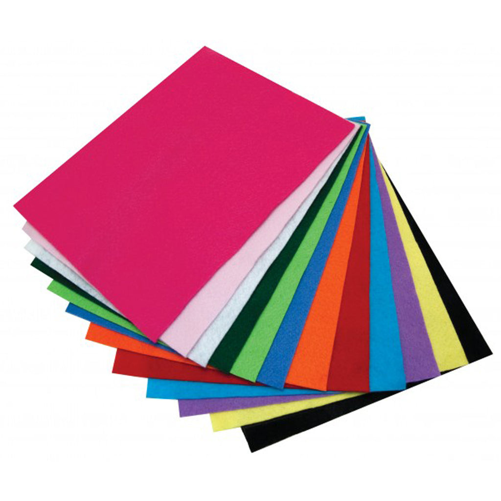 "Hygloss Products Felt Sheets - 9"" x 12"""