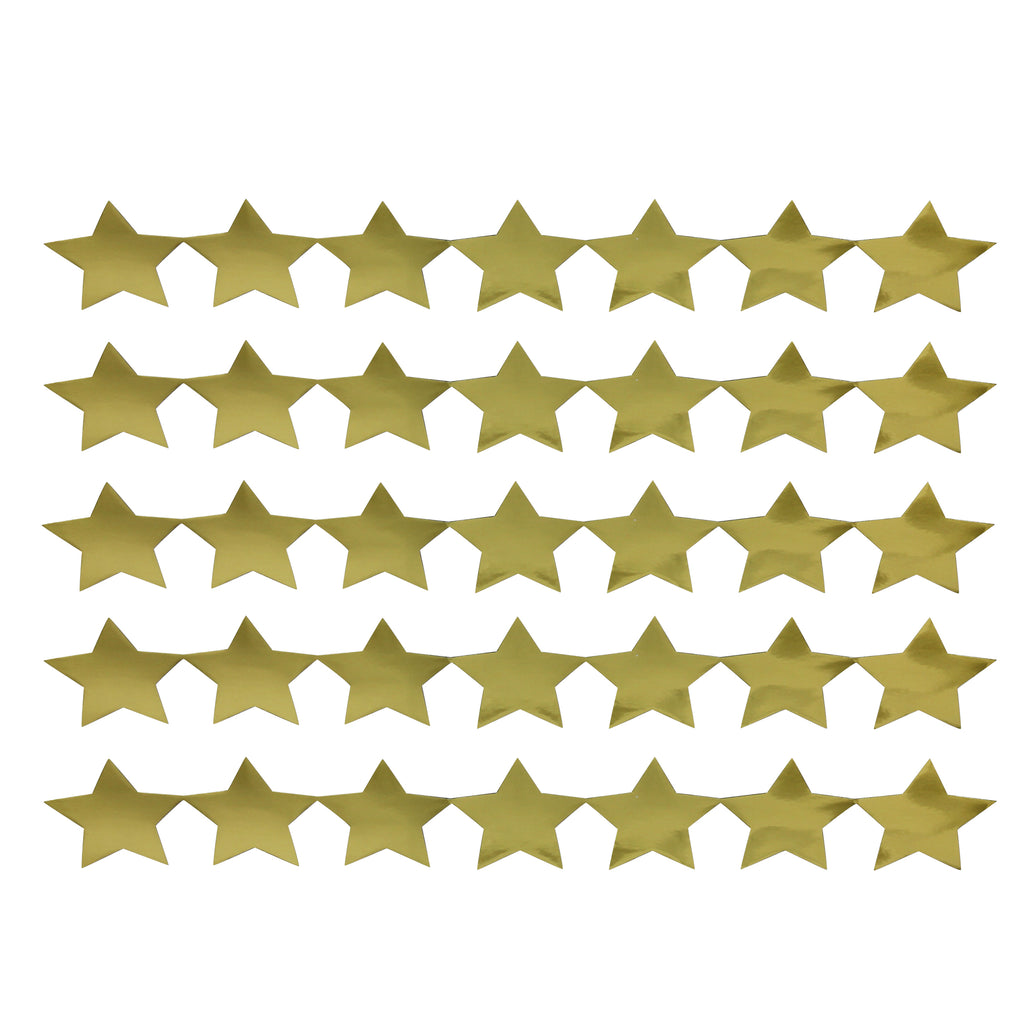 Hygloss Products Stars Sticker Strips - 5 Gold Strips (Metallic)