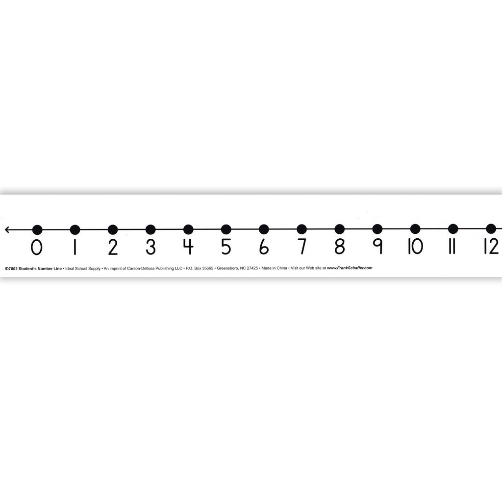 Carson Dellosa Student Number Lines with Non-Adhesive Backs Desk Tape