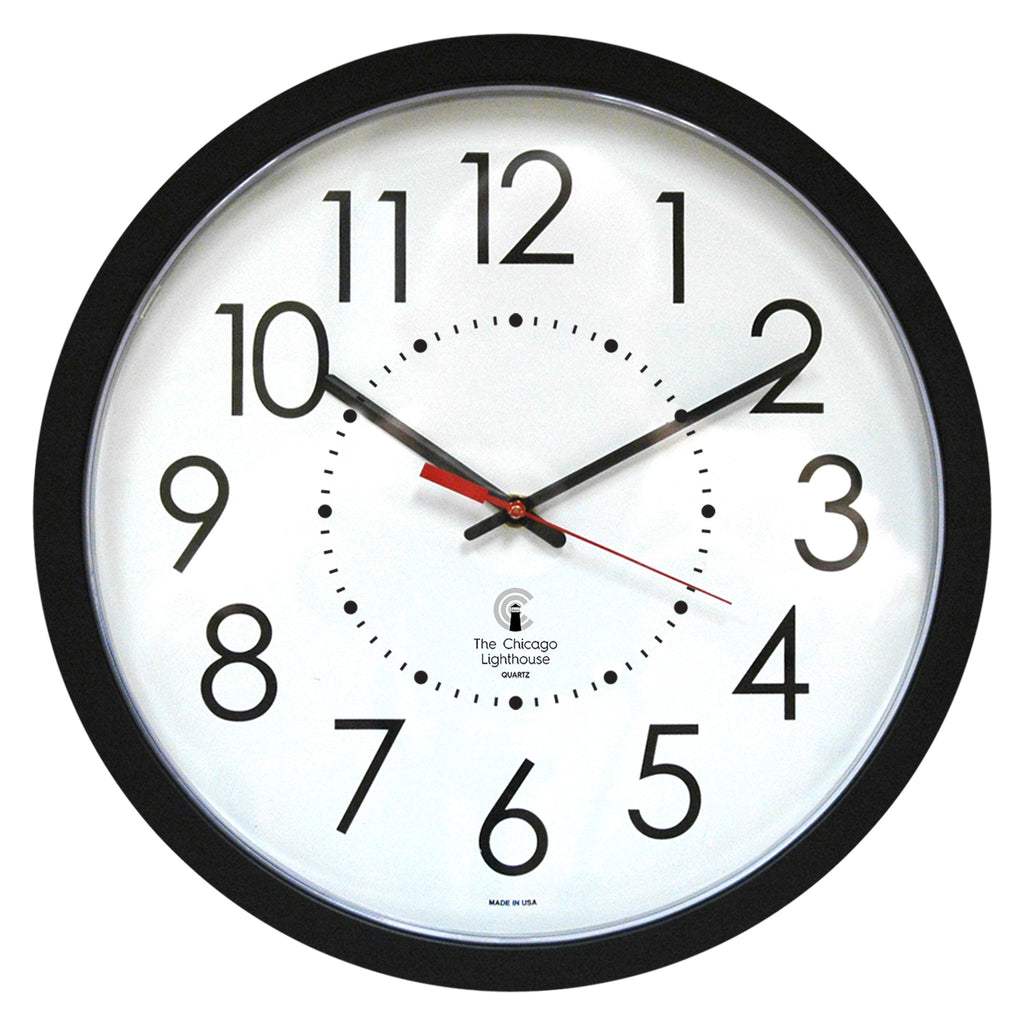 "Chicago Lighthouse Contemporary Series 14.5"" Electric Clock"