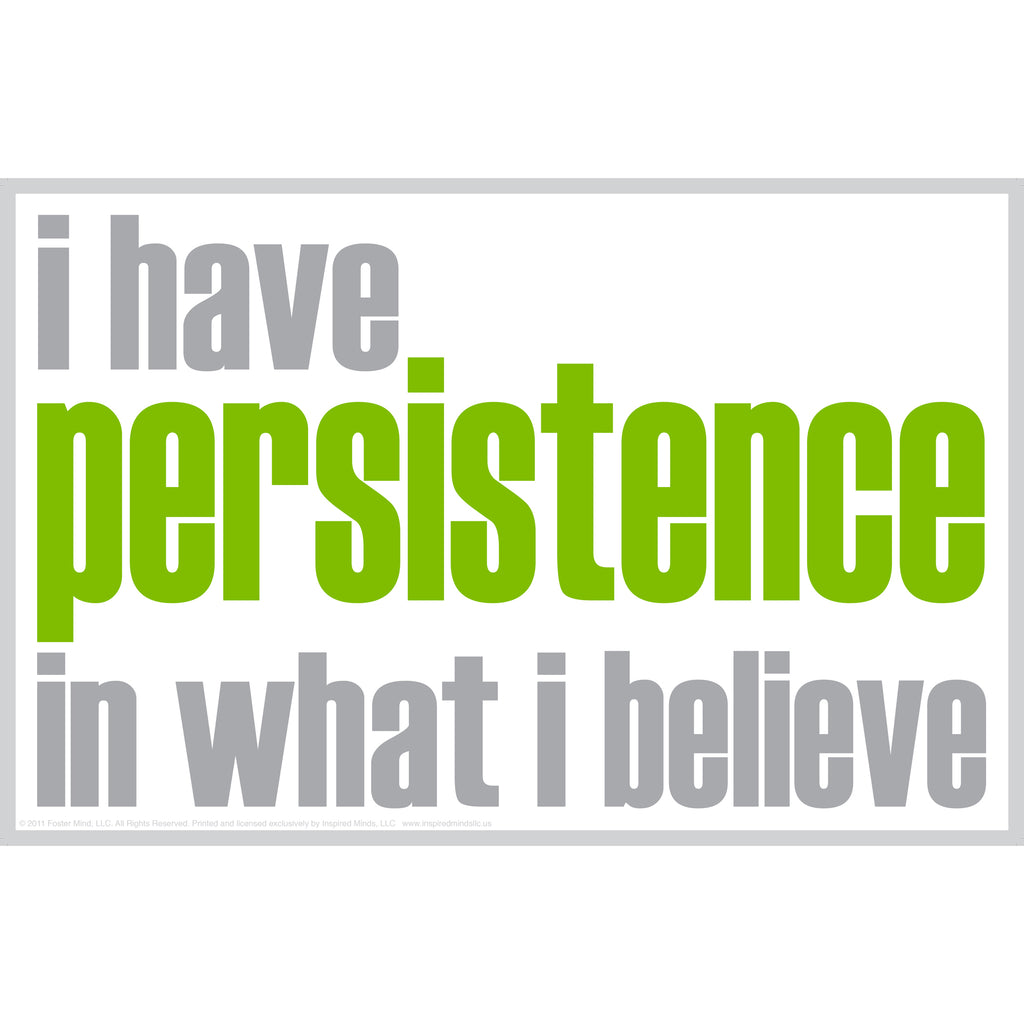 "Inspired Minds ""I Have Persistence"" Notes, 20 Pack"