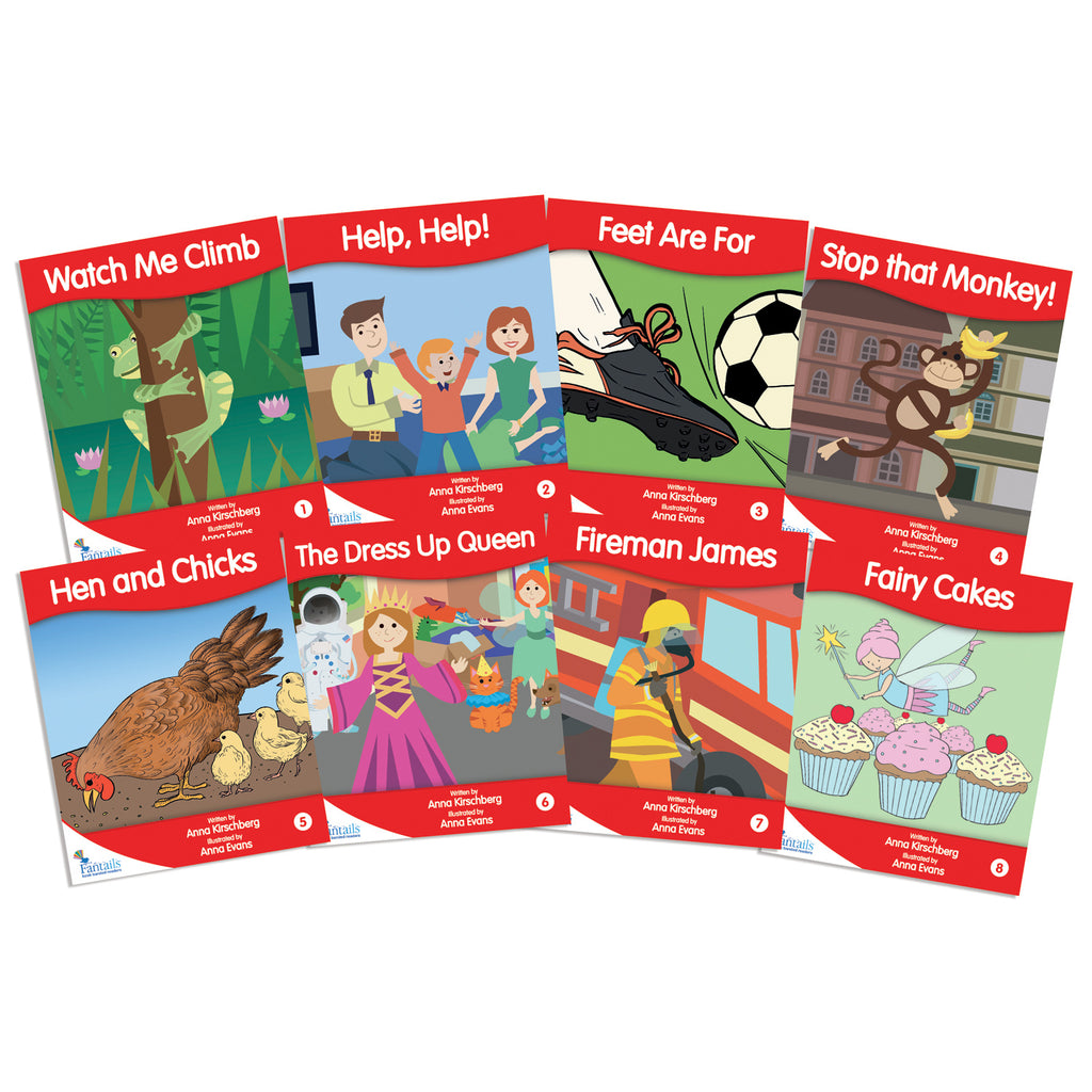 Junior Learning Fantail Books: Red Fiction Banded Readers, Levels B-D