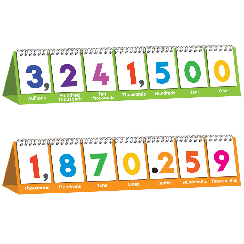 Junior Learning Double-sided Flip Stand: Ones to Millions Flip