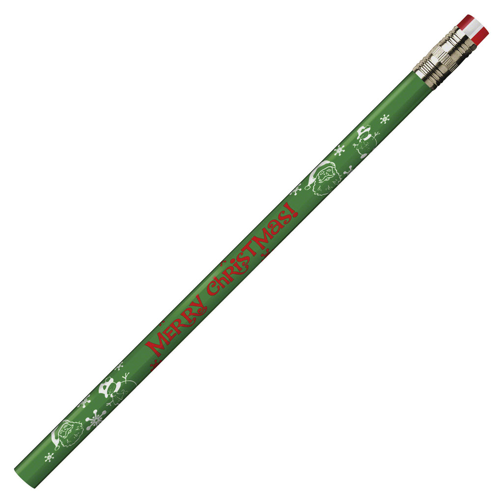 J.R. Moon Pencil Company Pencils Merry Christmas Assorted 12Pk