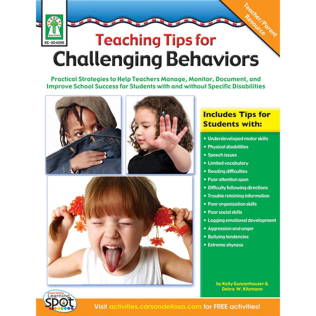 Carson Dellosa Teaching Tips for Challenging Behaviors