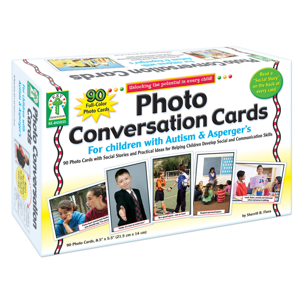 Carson Dellosa Photo Conversation Cards for Children with Autism and Asperger's