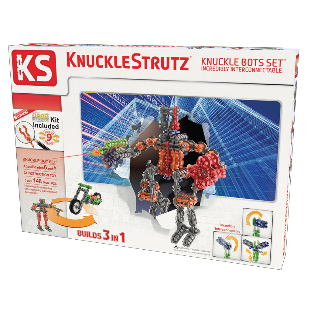Incredibly Interconnectable Toy KnuckleStrutz: Knuckle Bots Set