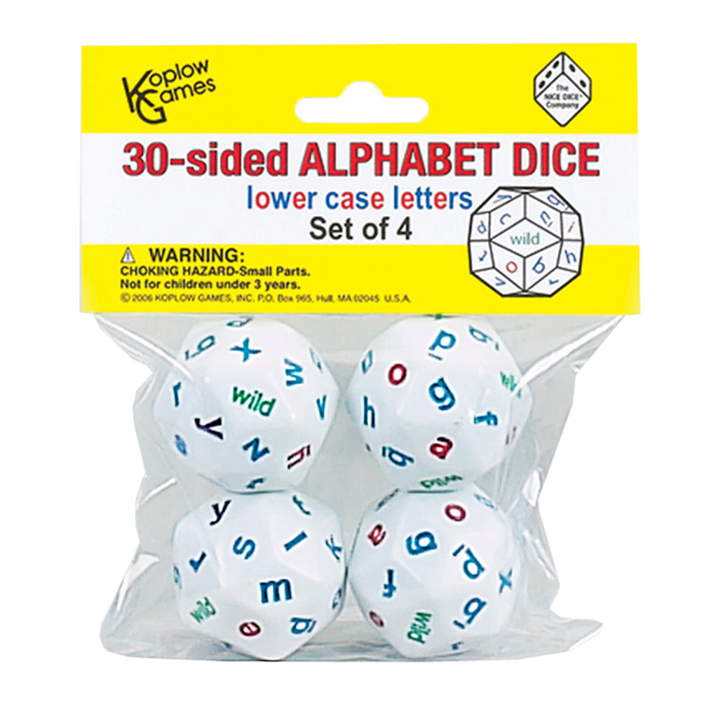Koplow Games Alphabet Dice 4 Colors