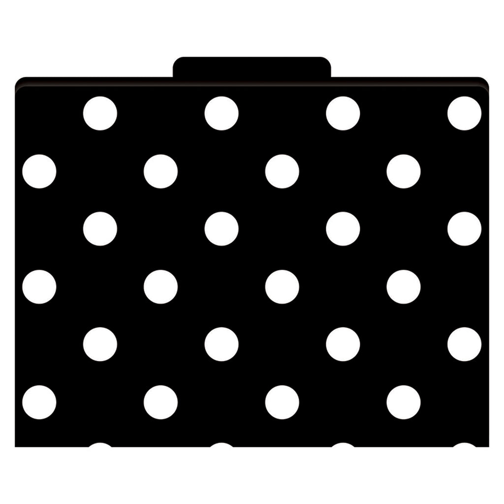 Barker Creek Black & White Dot File Folders