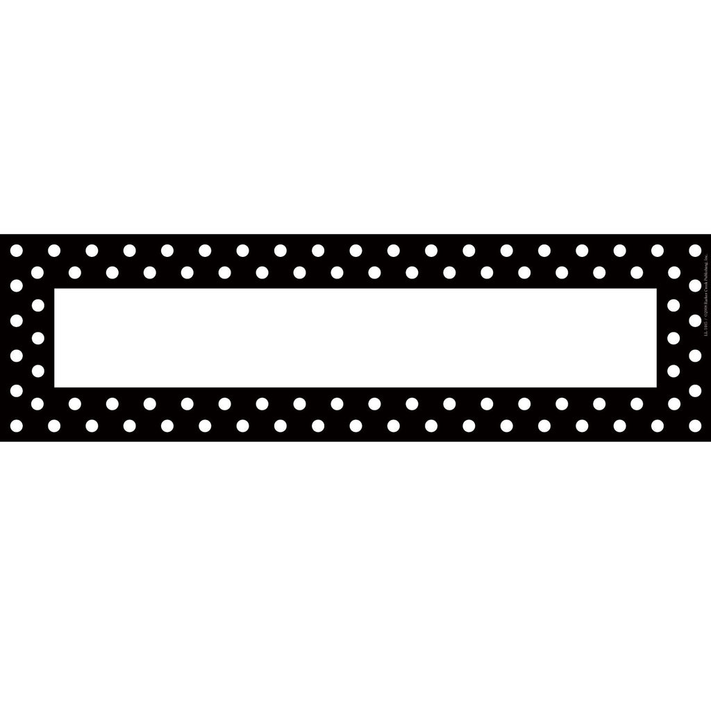 Barker Creek Black & White Dot Desk Tag