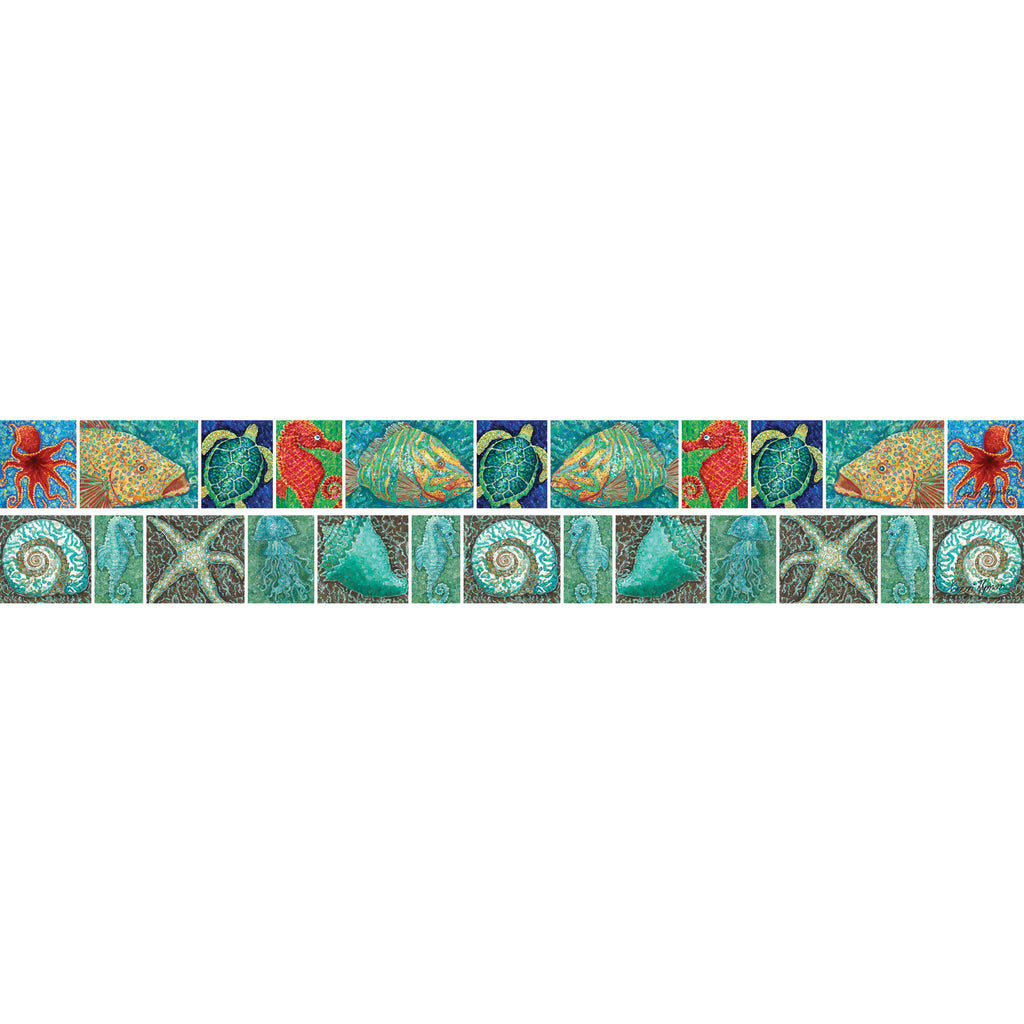 Barker Creek Double-Sided Trim! Surf's Up! Coral Reef