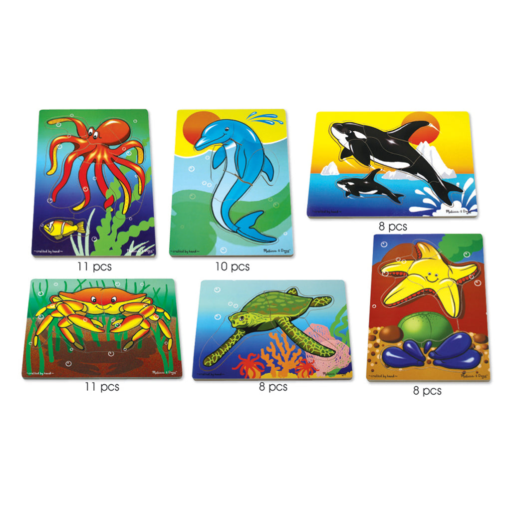 Melissa & Doug Sea Life Puzzle Set