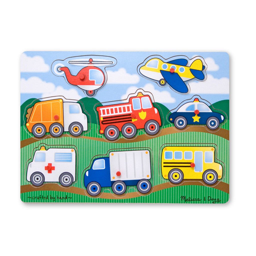 Melissa & Doug Vehicles Peg Puzzle