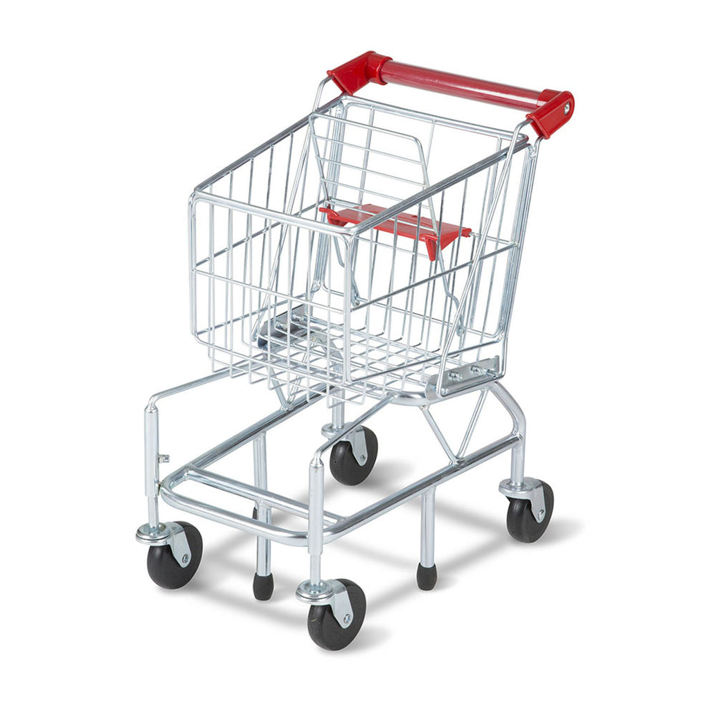 Melissa & Doug Shopping Cart Toy, Metal Grocery Wagon